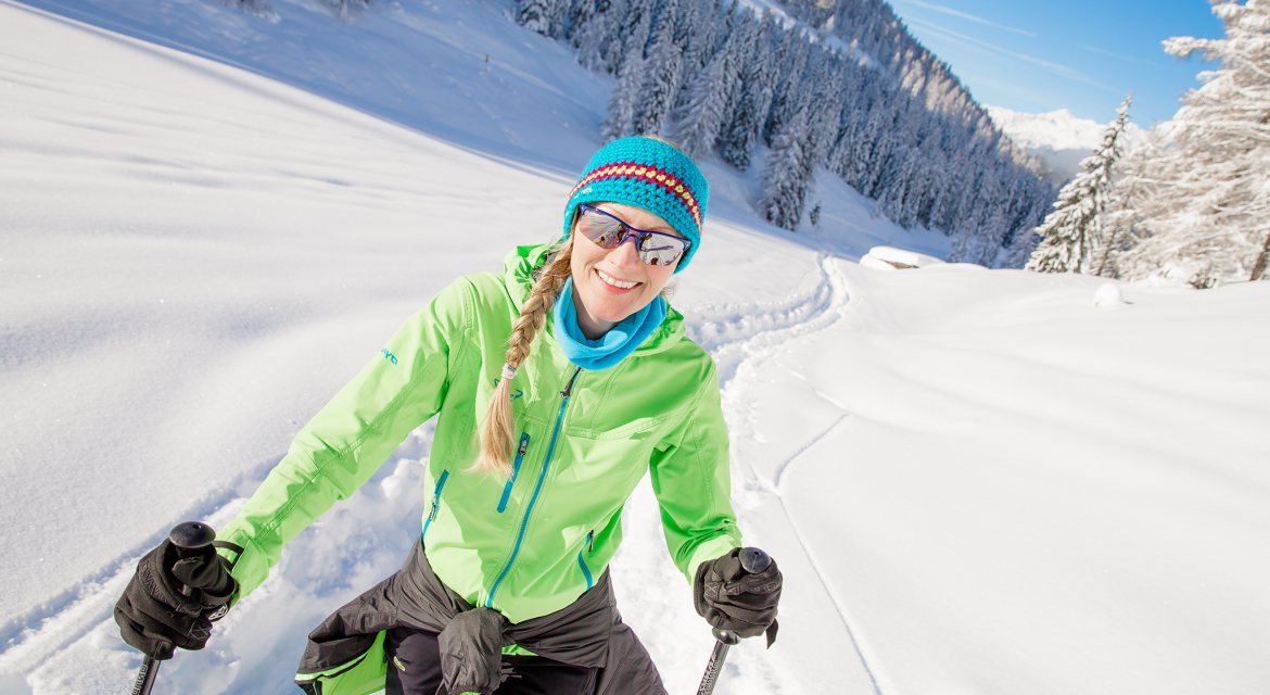 White spirit - Cross-country skiing in fresh & the snow-covered winter landscape